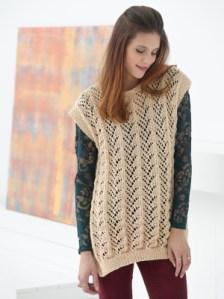 Free Knitting Pattern: Fan Lace Tunic