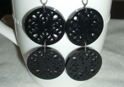 Dorinda Button Earrings