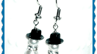 Snow Man Earrings