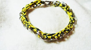 Woven Chain Bracelet {crochet}