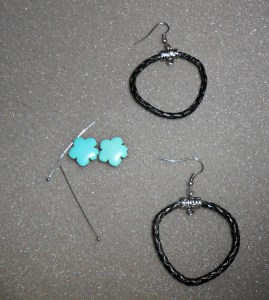 DIY Turquoise Statement Necklace Matching Earrings {tutorial}