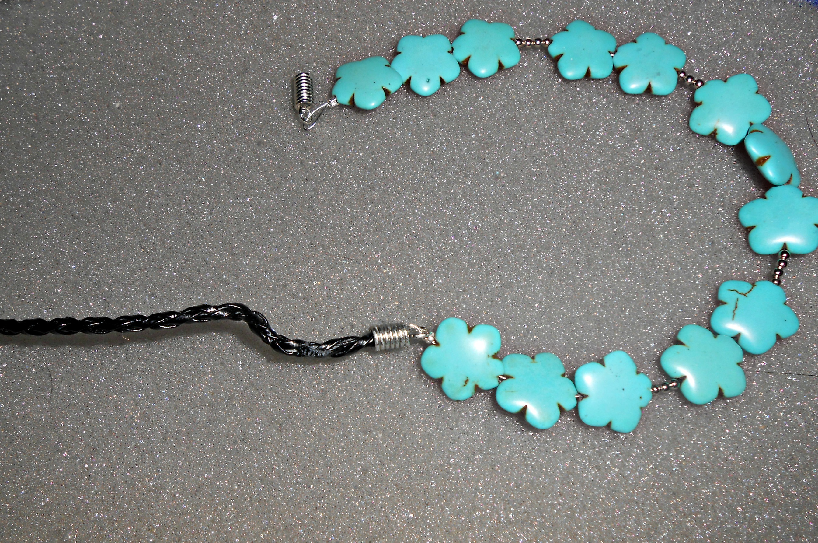 Diy turquoise statement necklace tutorial 5