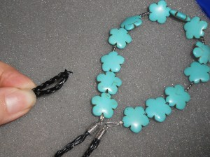 DIY Turquoise Statement Necklace {tutorial}