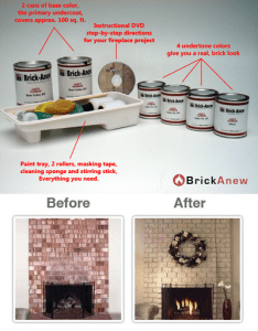 Transform Outdated Brick Fireplace with DIY Paint Kit