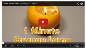 orange candle diy