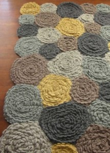 Sneak Peak Crochet Flower Rug