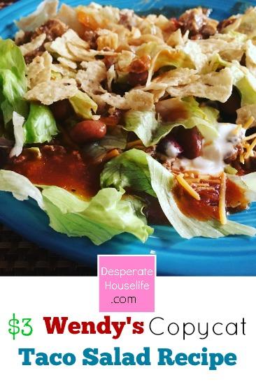 $3 Wendy's Copycat Taco Salad Recipe