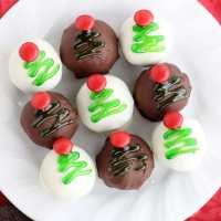 Christmas Tree OREO Cookie Balls