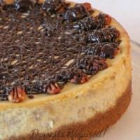 Banana Cheesecake with Pecan Graham Cracker Crust   #SundaySupper