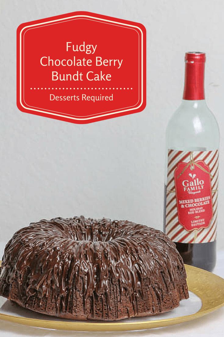 Fudgy Chocolate Berry Bundt Cake