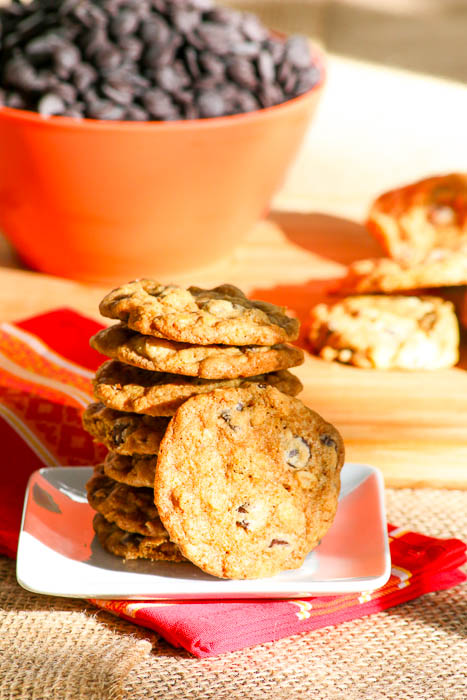 Chocolate Orange Oatmeal Cookies are a great alternative to the traditional cookies. The zest adds a huge bonus to the recipe. #ChristmasWeek