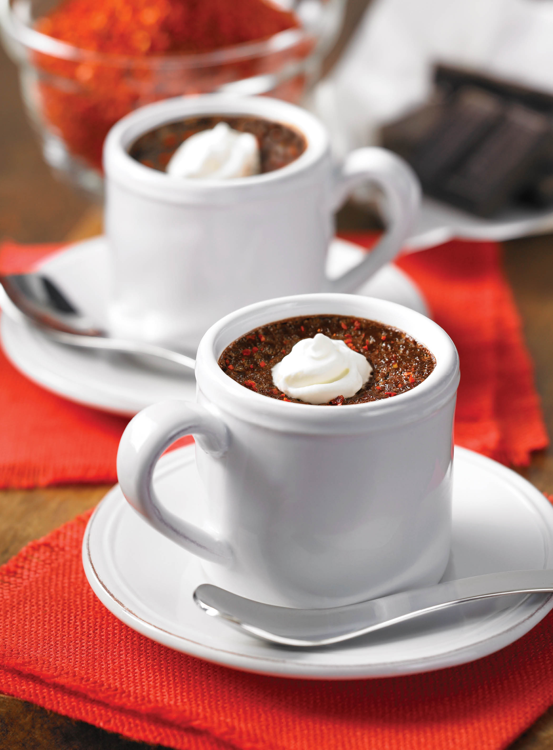 Chile-Spiked Chocolate Pots - Desserts Required