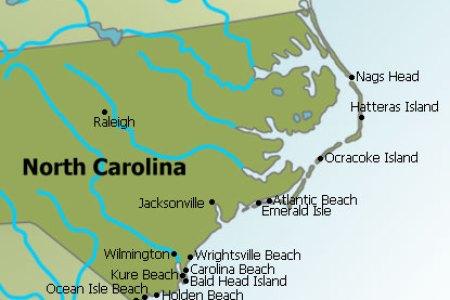 Map Of North And South Carolina Coast - Map of south carolina coast