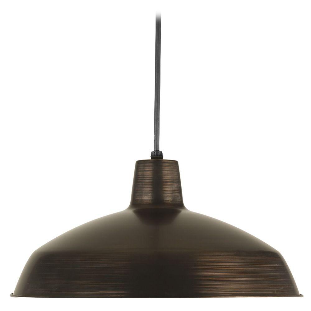 Wondrous Hover Or Click To Zoom Farmhouse Barn Light Pendant Bronze Metal Shade By Progress Lighting Industrial Pendant Lighting Home Depot Industrial Pendant Lighting Beacon houzz-02 Industrial Pendant Lighting