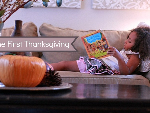first thanksgiving, thanksgiving craft, wampanaog book, free printable, multiracial children, biracial kids
