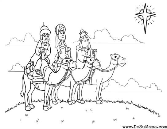 three kings printable, tres reyes mago, meaning of christmas, free christmas printable, preschool christmas printable