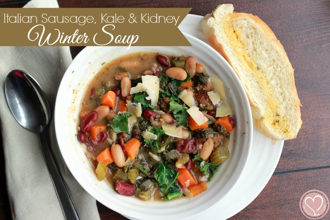 kale, kale soup, slow cooker soups, healthy crock pot recipes, healthy ...