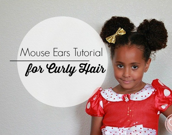 Minnie Mouse Ears for Curly Biracial Hair