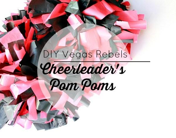 Easy DIY Cheerleader Pom Pom Tutorial
