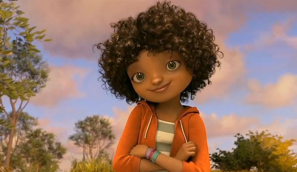 Dreamworks HOME biracial child Tip