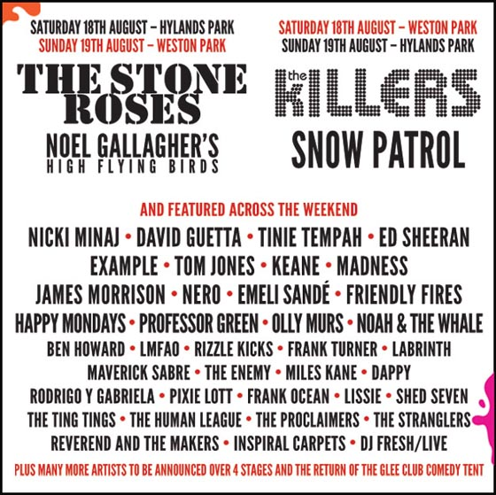 V Festival Lineup