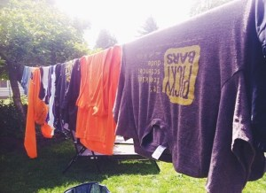 running = sweating = laundrying