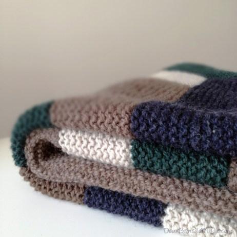Knitting Log Cabin Blanket
