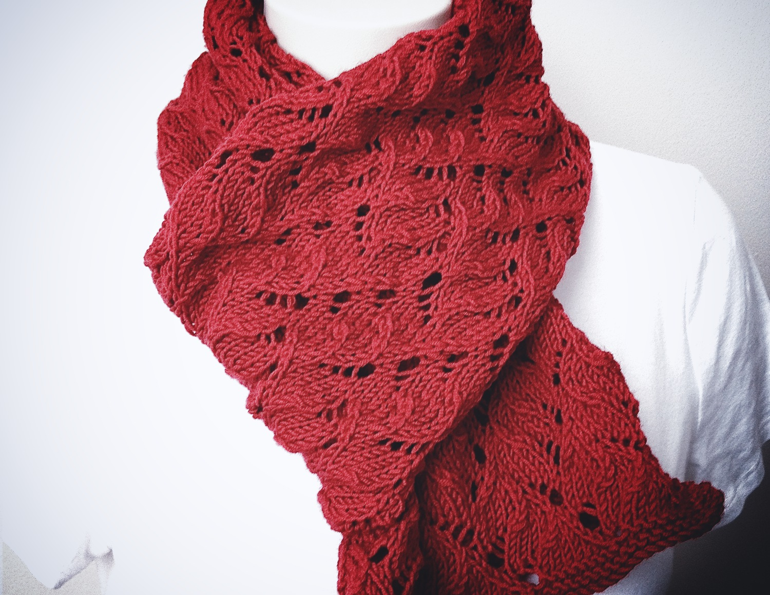 Knitting Terms Tbl : New knitting pattern red scarf