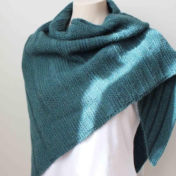 Knitting Pattern Teal Shawl