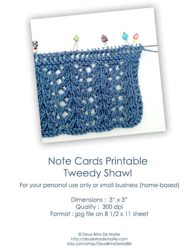 Free Printable Note Cards - The Little Shawl