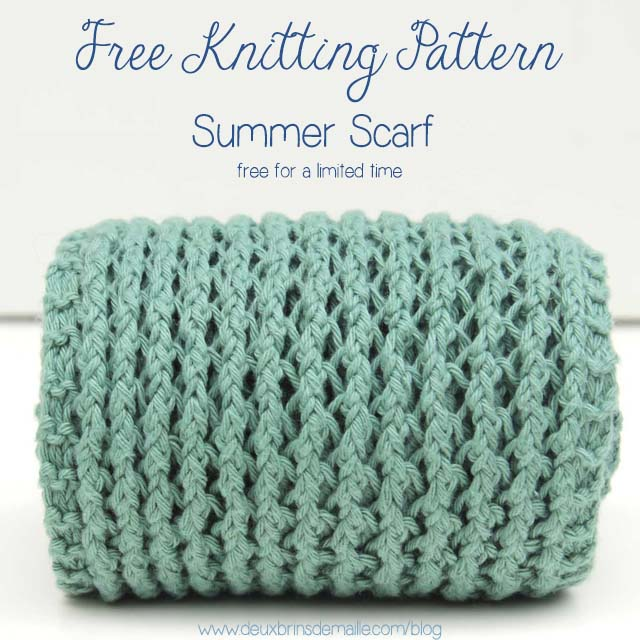 Free Knitting Pattern Scarf Summer 2 FB