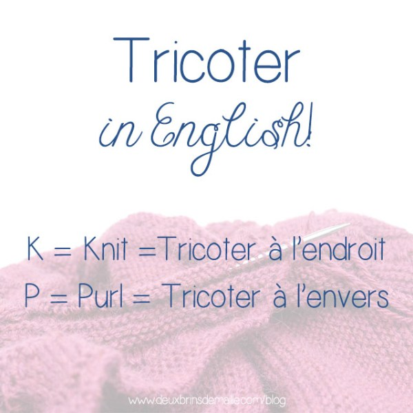 Tricoter in English
