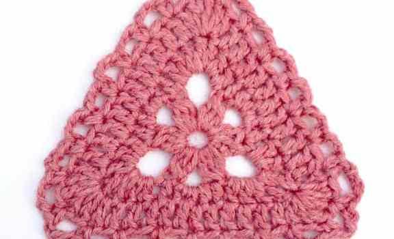 Triangular Crochet Motif From My Favorite Crochet Book