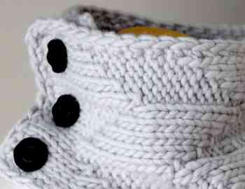 Knitting Pattern Cowl Geometric Cowl Deux Brins de Maille 3