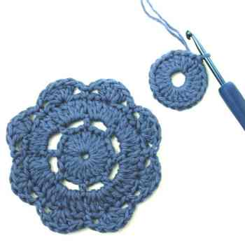 How to Crochet the Abby Flower Motif | Deux Brins de Maile