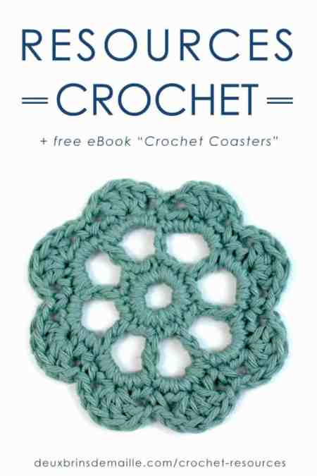 "Resources Crochet | Deux Brins de Maille | Free eBook ""Crochet Coasters"""