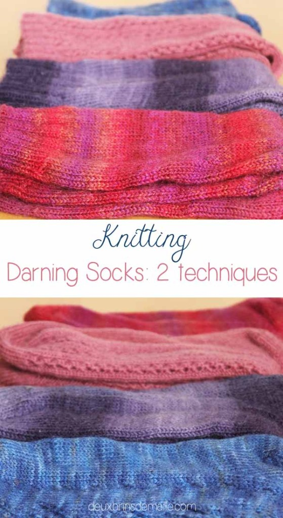 Darning Knitted Socks: 2 Techniques