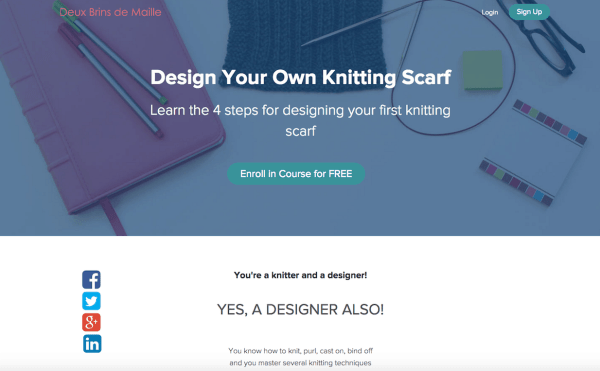 Knitting Squares Patterns : Design Your Own Knitting Scarf! - Deux Brins de Maille