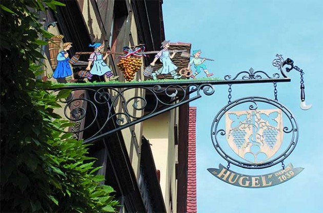 Hugel Wine Sign