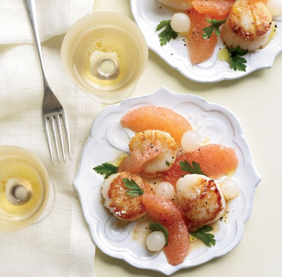 Scallops and grapefruit wine pairing
