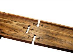Ritzy Reclaimed Oak Custom Wood Island Devospuzzle Joint Along Reclaimed Oak Wood Counter Photo By Devos Custom Rustic Wood Bbq Island Rustic Wood Kitchen Island