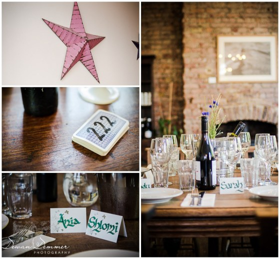 London Venue Photography of Wedding Table decor