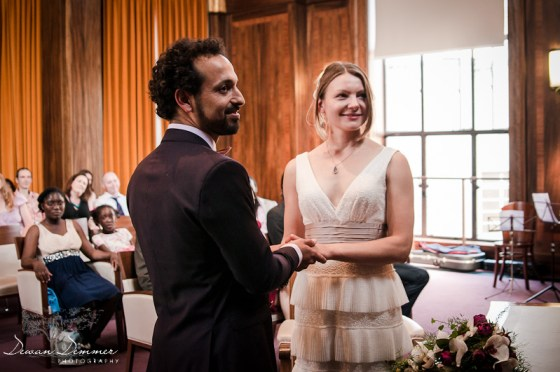London Wedding Photography of the Ceremony at the Stoke Newington Town hall