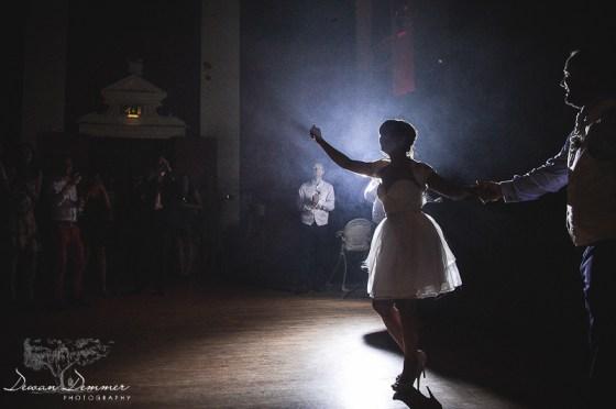 Bride invites guests onto dancefloor at BlackHeath