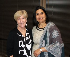 Dabney Dwyer (left) and Dr. Sushma Sharma
