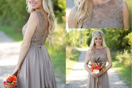2016 tan new country style bridesmaid dresses