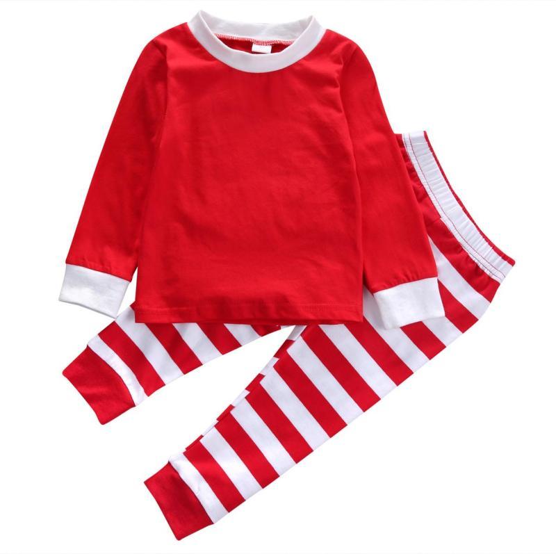 Peculiar Pajama Sets Toddler Kids Baby Boy Girls Striped Outfits ...