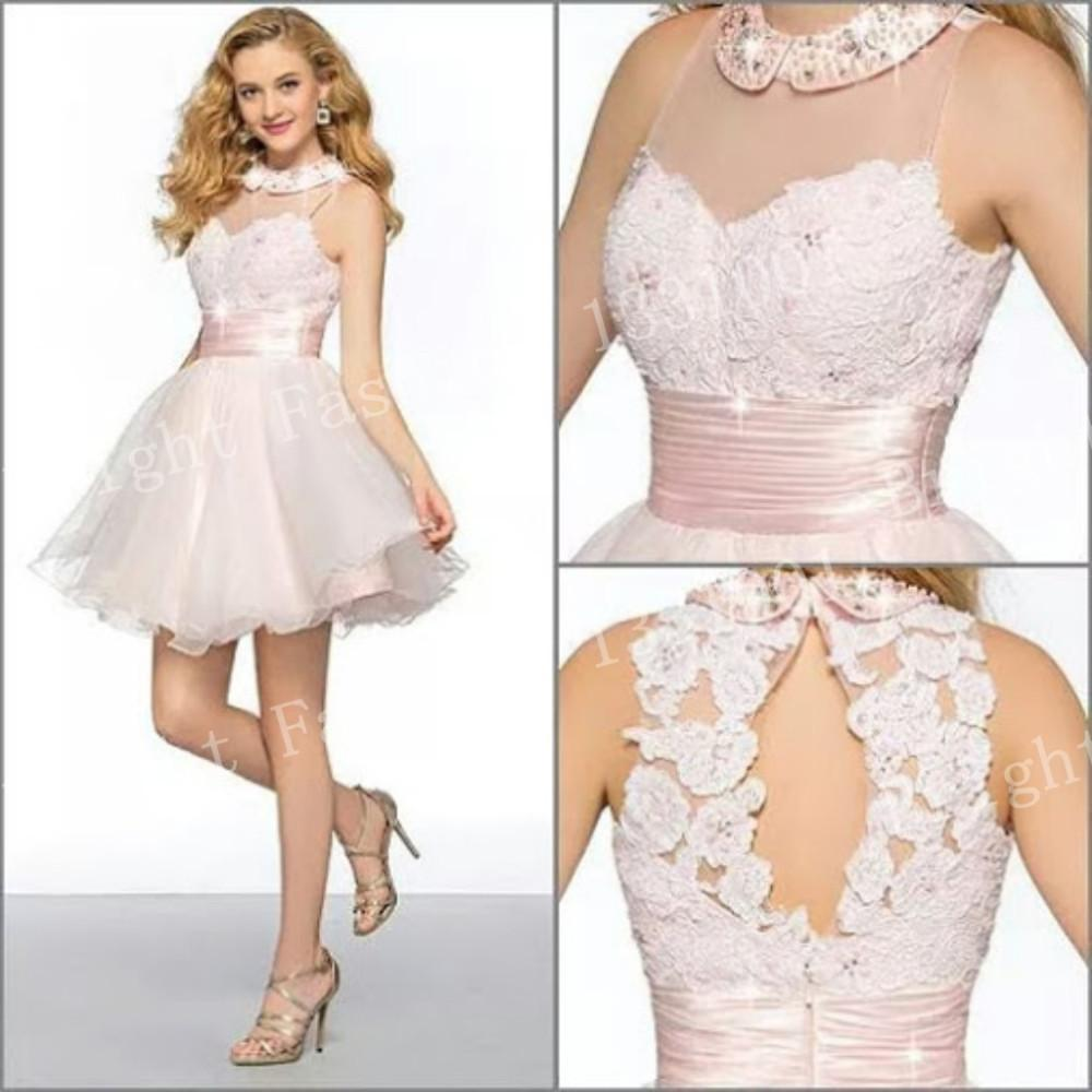 Interesting Girls Homecoming Gowns Custom Made Size Prom Dresses Romantic Short Mini Occasion Dresses 2015 Fashion Short Romantic Short Mini Occasion Dresses 2015 Fashion Short Fluffy Promdresses wedding dress Prom Dresses For Short Girls