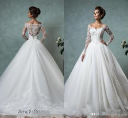 Small Of Lace Sleeve Wedding Dress