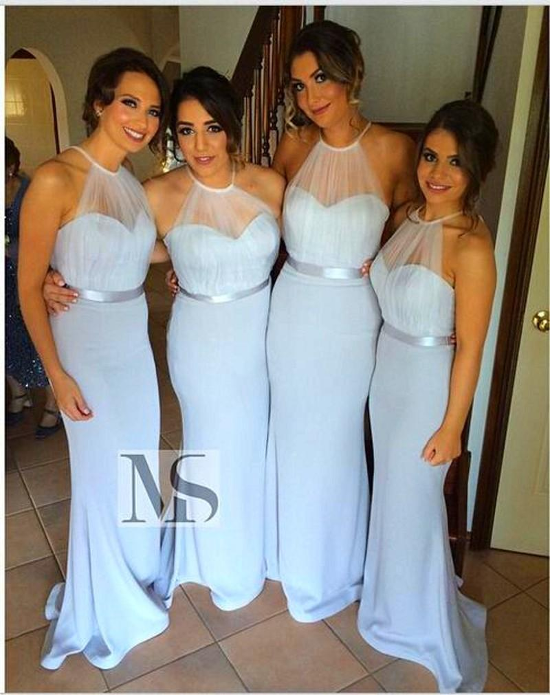 Gray Size Turquoise Amsale Bridesmaid Dresses Long Mermaid Halter Backless Turquoise Amsale Bridesmaid Dresses Long Mermaid Halter Backless Bridesmaidsgowns 2016 Custom Country Sexy Wedding Party Dres wedding dress Amsale Bridesmaid Dresses